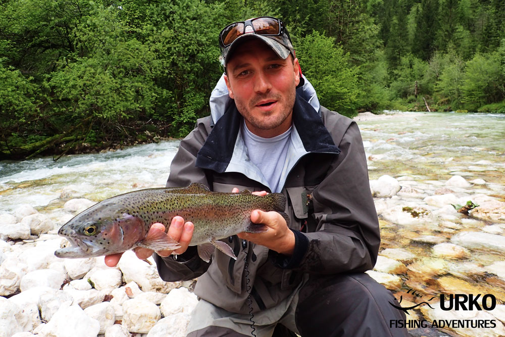 Urko Fishing Adventures Angling Service Fly Fishing Lepena River Rainbow Trout Slovenia