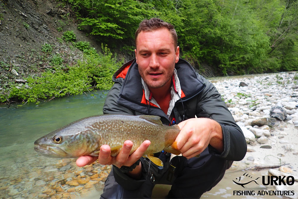 Urko Fishing Adventures Angling Service Fly Fishing Koritnica River Marble Trout Slovenia