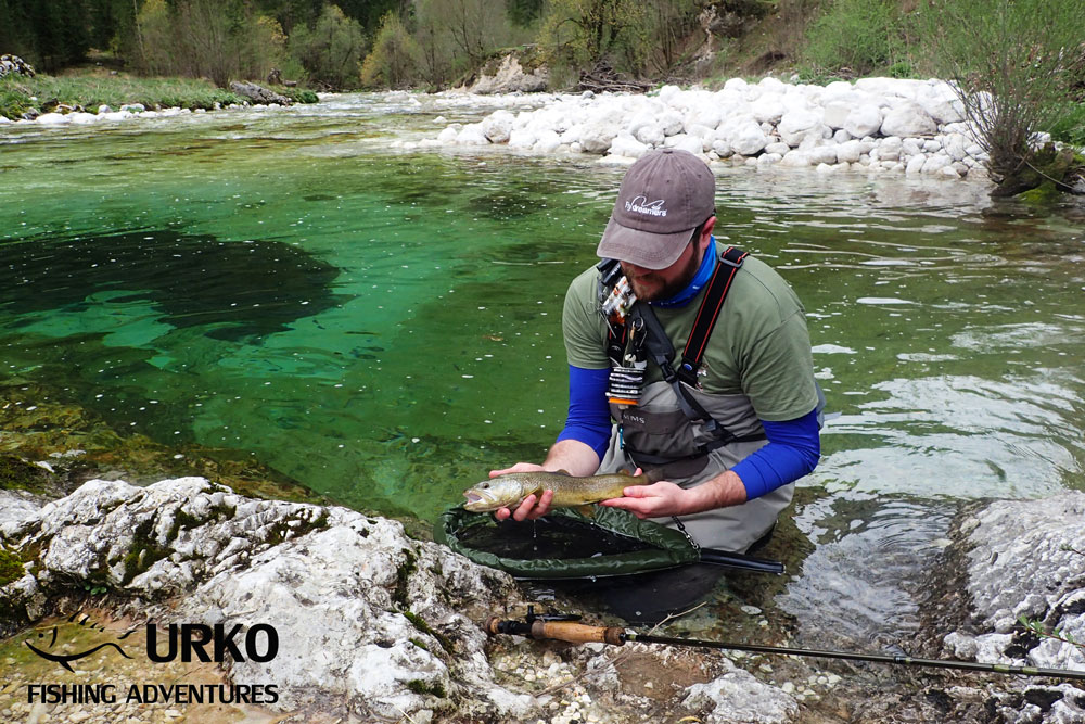 Urko Fishing Adventures Angling Service Fly Fishing Lepena River Marble Trout Slovenia